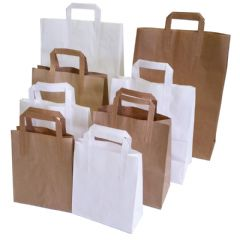 Flat Handle Carrier Bags